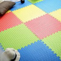 泡沫拼图地垫大号拼接垫子60x60儿童游戏爬行垫卧室榻榻米 树叶纹60*60*1.2 【81片】