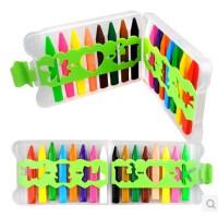 卡乐淘16色儿童蜡笔 无毒可水洗 画笔婴幼儿画画工具套装