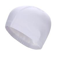 游泳帽男士女生女士布料PU涂层防水不勒头舒适游泳帽子大号