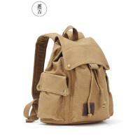 越古简约复古户外大容量旅行韩版高中书包男女包帆布包女双肩背包
