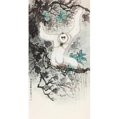 田世光《戏猿图》著名画家