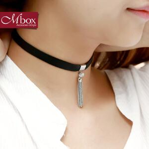 新年礼物Mbox项链 女款韩国版原创采用波西米亚风choker锁骨项链 流苏诱惑