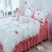 床上四件套纯棉全棉公主风1.8m床单被套床裙三件套网红少女心ins