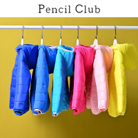 【3件价:72元】铅笔俱乐部童装2019冬季新款女童纯色棉衣中大童连帽外套儿童外套