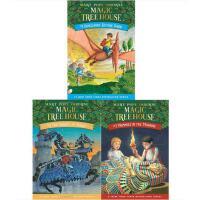 【现货合售】英文原版 神奇树屋 Magic Tree House 1-3合辑:恐龙谷历险记+迷雾中的骑士+木乃伊之谜