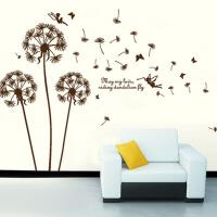 客厅电视背景墙壁墙贴纸装饰 蒲公英 大