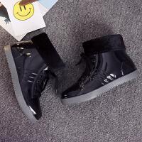 春秋雨鞋女学生短筒雨靴加绒果冻水靴防滑防水鞋套鞋低帮平跟胶鞋 黑色 送绒套