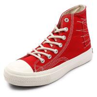 新款夏季1970复刻经典高帮鞋男女情侣款帆布鞋子原宿学生高邦加绒