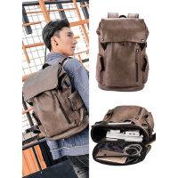 背包男士双肩包电脑包大学生书包男时尚潮流大容量休闲轻便旅行包