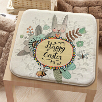 学生坐垫教室兔子秋冬可爱椅垫四季汽车防滑办公室萌兔椅子垫薄款