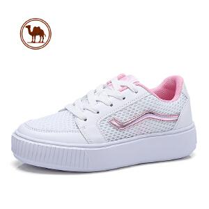 骆驼牌女鞋 2018春季新款时尚平底休闲鞋女小白鞋运动鞋板鞋女