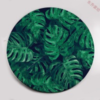 圆形地毯ins绿植客厅茶几毯卧室电脑椅地垫 元气森林