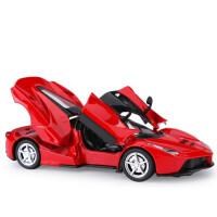 兰博基尼毒药雷文顿模型车模跑车仿真合金汽车摆件莱肯回力玩具车 LaFa 红色(*盒底座)