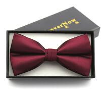 男士婚礼主持司仪蝴蝶结领结西装英伦新郎伴郎服红色领结