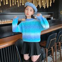 女童毛衣秋装小女孩秋冬打底上衣儿童套头针织衫