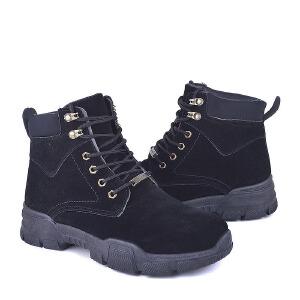 男式 男士高帮鞋沙漠短靴子男皮革潮流工装军靴百搭英伦马丁靴
