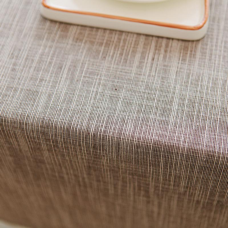 日式北欧桌布纯色餐桌布棉麻布艺亚麻素色长方形茶几电脑台布文艺