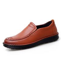 皮鞋男真皮透气商务皮鞋秋季新款牛皮软底防滑中青年休闲男鞋