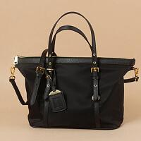 欧美牛津布防水尼龙大包配真皮手提女包休闲简约大容量单肩购物袋SN5356