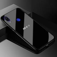 红米note7钢化玻璃手机壳小米note7pro简约保护套Redmi情侣款防摔硬壳全包硅胶个性M19
