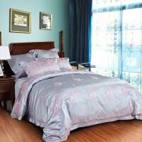 多喜爱家纺提花四件套欧美风床品套件家纺床上用品1.5/1.8罗薇轻纱