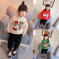 中小童韩版新款女童冬装卫衣加厚套头上衣儿童冬保暖B-S28