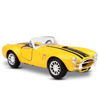 美驰图maisto1:24汽车模型福特谢尔比眼镜蛇 仿真合金车模型原厂 谢尔比 眼镜蛇 黄095