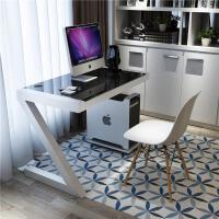 简易电脑桌钢化玻璃Z型台式书桌简约写字台家用创意烤漆办公桌子
