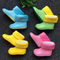 儿童雨鞋男童宝宝水鞋女童雨靴胶鞋小童幼儿套鞋轻便防滑春夏 糖果黄色(新款) 裸脚长加1-1.5CM
