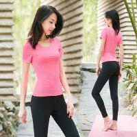 新款专业健身房速干衣女士瑜伽服套装女 性感露肩显瘦瑜珈服跑步运动服女