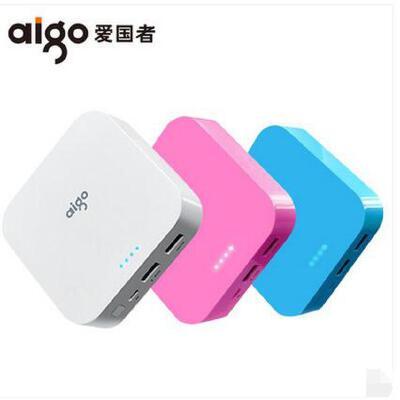 aigo/爱国者充电宝10000毫安便携迷你 手机通用移动电源小巧定制 大品牌值得放心