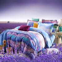 床上用品纯棉全棉加厚磨毛床单笠四件套1.8m2m