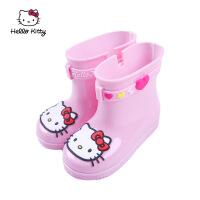 儿童雨靴3春夏新款雨鞋4岁卡通女童防滑中筒软底雨靴 23 内长约15cm