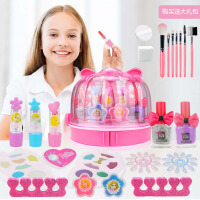 儿童化妆品安全无毒公主彩妆盒套装女孩过家家口红演出宝宝玩具