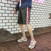 夏季新款条纹运动短裤潮流马裤男士休闲五分裤中裤学生韩版男裤子
