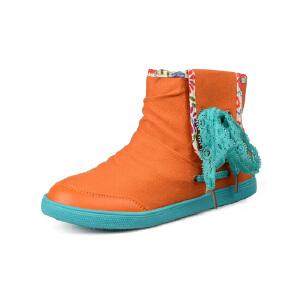 比比我儿童鞋 2017春秋款高帮帆布休闲童鞋舒适透气女童鞋潮