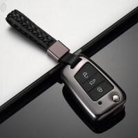 大众17款帕萨特真皮钥匙包套2017款帕萨特汽车金属钥匙保护壳扣