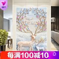 5D钻石画满钻新款客厅卧室点贴钻十字绣砖石简单绣小幅玄关鹿
