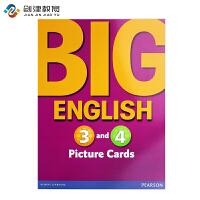 培生英文原版进口 朗文少儿美语旗舰课程 Big English 教学卡片第三四级
