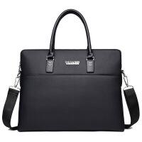 男包款男士手提包大容量休闲商务公文包横款单肩斜跨