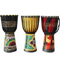 手鼓非洲鼓丽江标准10寸成人儿童学生初学者入门演奏山羊皮手鼓(