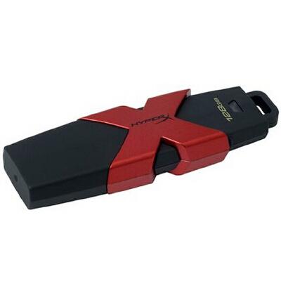 金士顿U盘 128G HXS3骇客u盘 128GB USB3.1 Kingston HyperX Savage USB闪存盘 128GB 读速350MB/s USB3.1 u盘/闪存盘