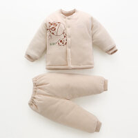 新生儿棉衣彩棉套装冬季婴儿衣服加厚保暖刚出生宝宝棉袄