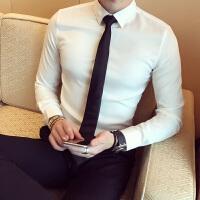 男士韩国休闲潮流衬衫衣商务衫打底衬衣男长袖修身型韩版帅气