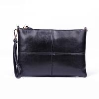 韩版手拿包女包新款手包时尚休闲斜挎百搭潮包大容量个性简约 黑 色