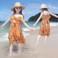 女童连衣裙儿童吊带裙沙滩裙中大童夏装韩版女孩裙子波西米亚长裙