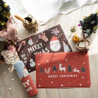 北欧圣诞地垫pvc圈丝进门门垫家用门口入户脚垫门厅厨房防滑垫 60x90cm