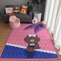 加厚防滑棉质卡通儿童宝宝爬行地垫 游戏垫爬爬垫野餐垫子瑜伽垫 5*195CM