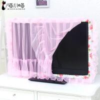 蕾丝液晶42寸电视机圈开机不取防尘罩55寸电视边框套电视装饰圈罩