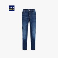 HLA/海澜之家时尚都市直筒牛仔裤舒适牛仔裤男